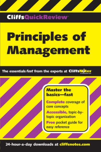 Book cover for Principles of Management Cliffs Quick Review