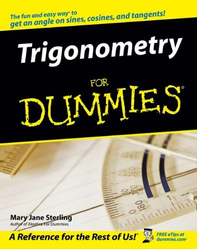 global online store books science mathematics trigonometry trigonometry for dummies ® for