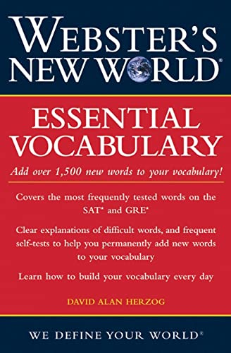 Book Cover: Webster%27s New World Essential Vocabulary (Webster%27s New World)
