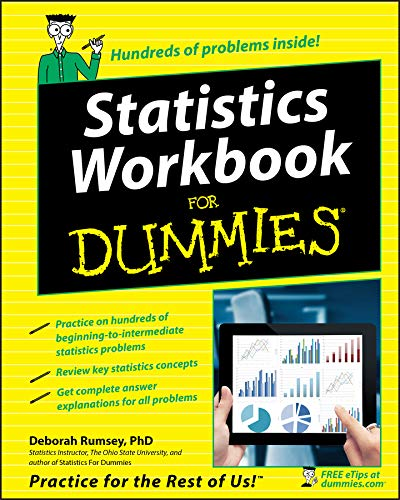 Statistics Workbook For Dummies, Rumsey, Deborah J.