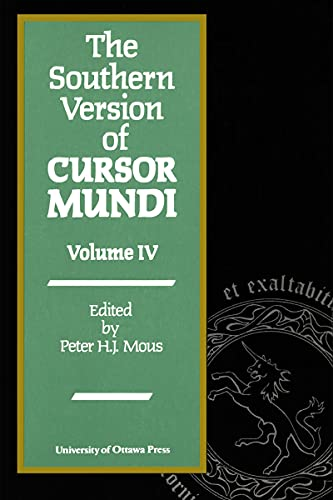PDF The Southern Version of Cursor Mundi Vol IV Ottawa Mediaeval Texts and Studies
