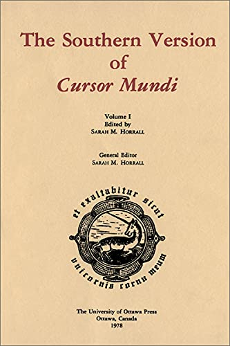 PDF The Southern Version of Cursor Mundi Vol I Publications medievales de l Universite d Ottawa