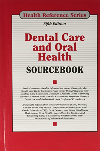 book cover dental care and oral health sourcebook