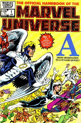 Essential Official Handbook Of The Marvel Universe Vol. 1  Cover