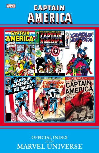 Captain America: Official Index To The Marvel Universe Cover