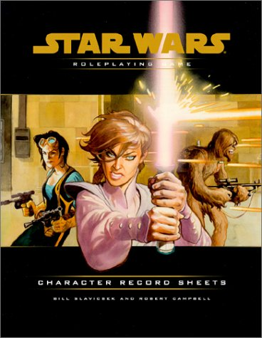 Character Record Sheets (Star Wars Roleplaying Game), Wizards Team