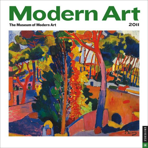 2011 Modern Art mini Wall Calendar