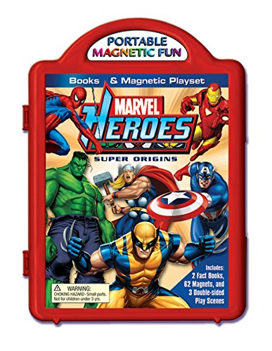Marvel Heroes Super Origins Book & Magnetic Playset (Marvel Magnetic)