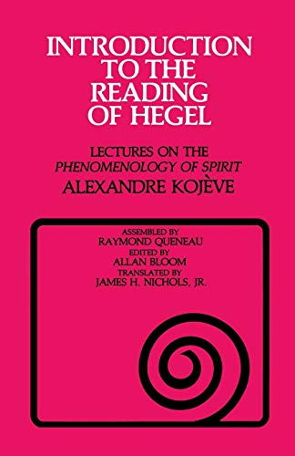 Introduction to the Reading of Hegel Book Cover Picture