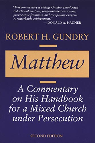 Matthew; A Commentary on His Handbook for a Mixed Church under Persecution