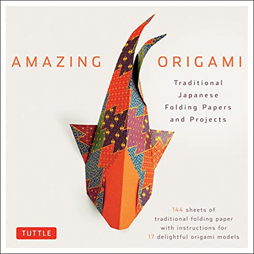 Amazing Origami Kit: Traditional Japanese Folding Papers and Projects [144 Origami Papers with Book, 17 Projects] - Tuttle Editors