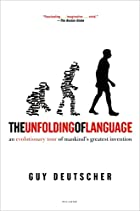 cover of The Unfolding of Language