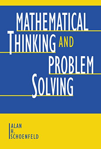 PDF Mathematical Thinking and Problem Solving Studies in Mathematical Thinking and Learning Series
