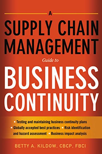 PDF A Supply Chain Management Guide to Business Continuity