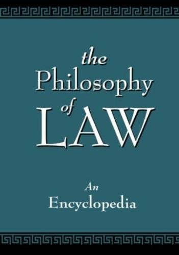 PDF The Philosophy of Law An Encyclopedia Garland Reference Library of the Humanities 2 Volumes