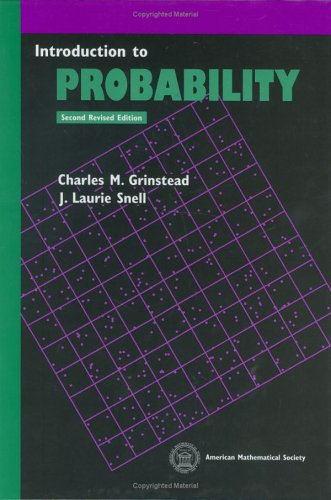 PDF Introduction to Probability by Charles M Grinstead