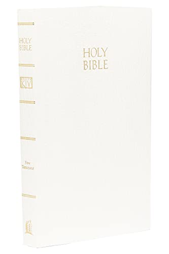 KJV Vest Pocket New Testament: King James Version, white leatherflex