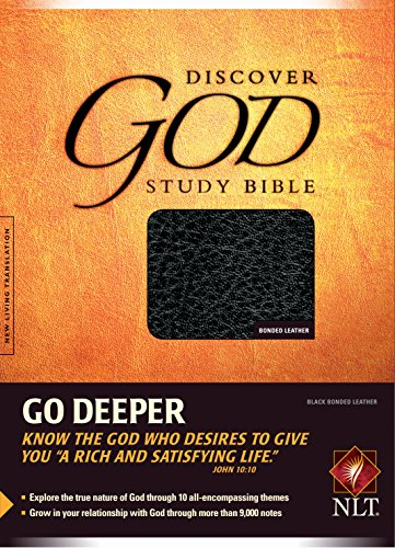 Discover God Study Bible, NLT Bonded Black