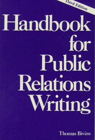 [cover art] Handbook for Public Relations Writing