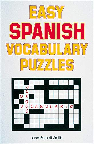 Easy Spanish Vocabulary Puzzles (Language - Spanish)