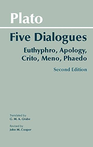 Plato: Five Dialogues: Euthyphro, Apology, Crito, Meno, Phaedo Book Cover Picture