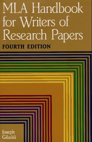 MLA Handbook for Writers of Research Papers, Gibaldi, Joseph