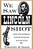 We Saw Lincoln Shot book cover.