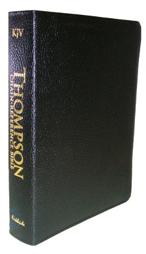 Thompson Chain-Reference Study Bible: King James Version (KJV), black genuine leather, gold-edged, thumb-indexed, words of Christ in red, with concordance