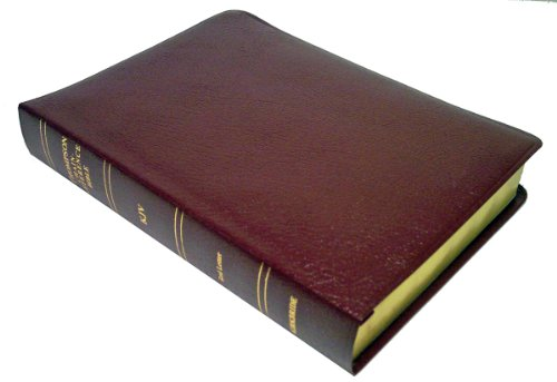 Large Print (10 Point) Thompson Chain-Reference Bible: King James Version (KJV), burgundy bonded leather, gold-edged, thumb-indexed, side-referenced, concordance, words of Christ in red