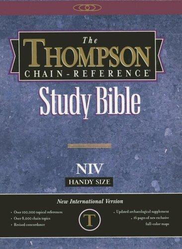 Thompson Chain-Reference Study Bible, Handy Edition: New International Version (NIV) Navy/Tan Imitation Leather