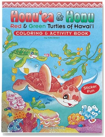 Honu'ea & Honu: Red & Green Turtles of Hawai'i Coloring & Activity Book