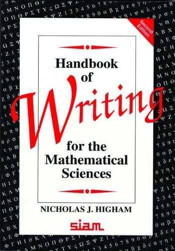 Handbook of Writing for the Mathematical Sciences cover