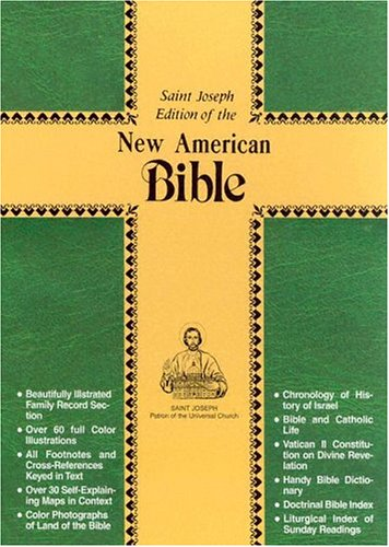 Saint Joseph Gift Bible, Personal Size Edition: New American Bible (NAB), green bonded leather, magnet close