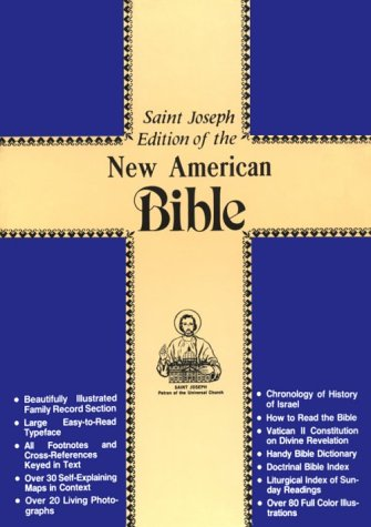 Saint Joseph Gift Bible, Deluxe Medium Size Print Edition: New American Bible (NAB), brown bonded leather