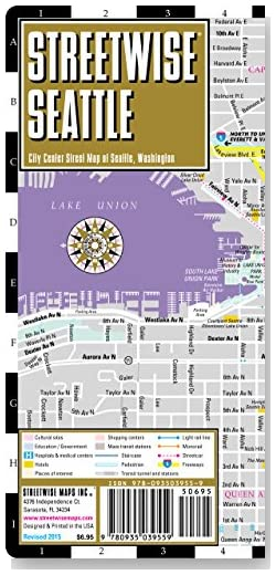 Streetwise Seattle Map - Laminated City Center Street Map of Seattle, Washington