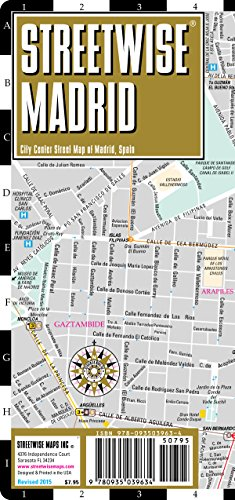 Streetwise Madrid Map - Laminated City Center Street Map of Madrid, Spain - Streetwise Maps
