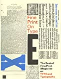 Fine Print on Type : The Best of Fine Print Magazine...