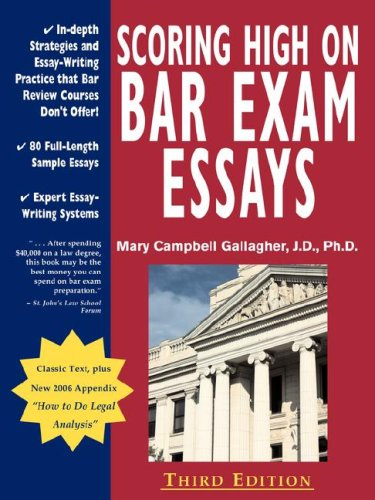 california bar exam essays by subject