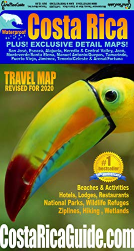 Waterproof Travel Map Of Costa Rica - Ray Krueger Koplin, Suzanne Krueger KoplinToucan Maps