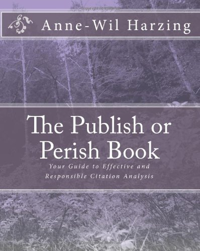 The Publish or Perish Book by Harzing book cover.