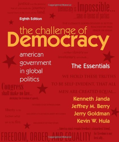 Pdf The Challenge Of Democracy American Government In Global