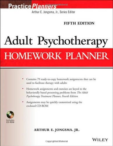 ADULT PSYCHOTHERAPY HOMEWORK PLANNER, 5ED**