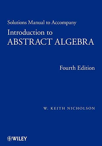 PDF Introduction To Abstract Algebra Solutions Manual