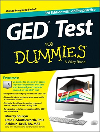 PDF GED Test For Dummies with Online Practice