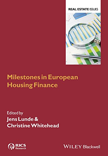 PDF Milestones in European Housing Finance Real Estate Issues