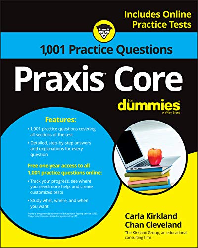PDF 1 001 Praxis Core Practice Questions For Dummies With Online Practice For Dummies Career Education