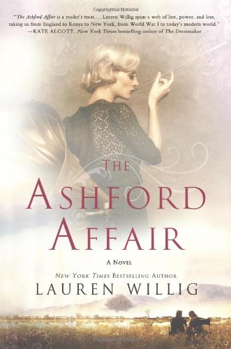 Book The Ashford Affair - a faded photograph of a blonde woman next to a gramophone, smoking a cigarette in a very long holder