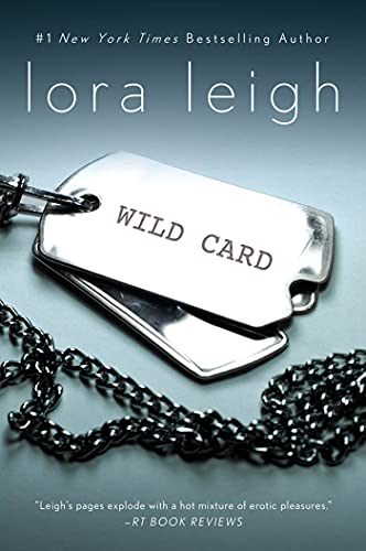 Wild Card by Lora Leigh - dog tags against a grey background.