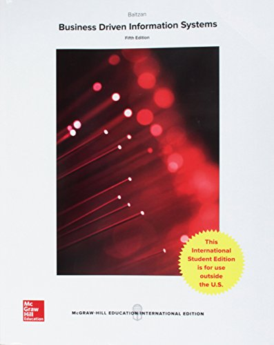 BUSINESS DRIVEN INFORMATION SYSTEMS - 5E