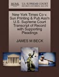 New York Times Co v. Sun Printing & Pub Ass'n U.S. Supreme Court Transcript of Record with Supporting Pleadings